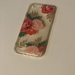 Pink and gold floral iPhone 6 case